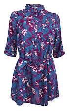 Viscose Collared Floral Semi Fitted Tops & Shirts for Women