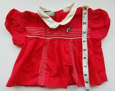 A21 Vintage Red Dress Top Blouse Large Baby Doll Dolls Teddy Bear