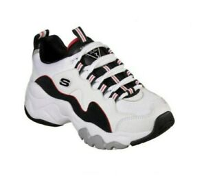 SKECHERS WOMEN'S D LITES 3.0 ZENWAY SPORTS SHOES SIZE US 7.5. WHITE, NAVY & RED.