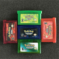 5PCS Pokemon Game Cards Sapphire/Emerald/Fire Red/Leaf Green/Ruby GBM/GBA/SP/NDS