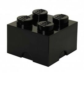 Lego Storage Set 4003 Storage Brick 2 x 2 Black Brand New