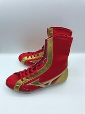 Mizuno Boxing Shoes Red Gold made in Japan Us7.5, Uk7 FedEx free shipping