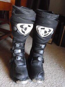 Thor Quad MX Ratchet ~ T-30 ~ ATV / Motocross Boots ~ Size 6 ~ Gray/Blue & Black