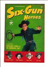 SIX-GUN HEROES #14  [1952 FN+]  LASH LARUE COVER!
