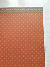 "Dollhouse Brodnax Wallpaper ""Jubilee"" Red/Orange Gold Blue 1:12 Scale"