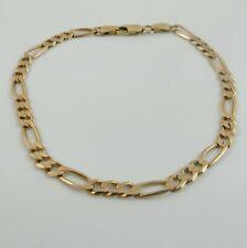 "14ct Yellow Gold 585 Figaro Link Bracelet 8"" - 5 Grams"