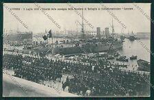 Livorno Città Militari Marina Militare Nave cartolina QQ3675