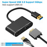 USB 3.0 to HDMI VGA Adapter, SZYCD 1 in 2 USB 3.0 to HDMI VGA 1080p Dual Output