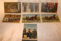 7 AMISH LANCASTER County Linen Curteic Postcard WoW Condition! Old Unposted Lot2