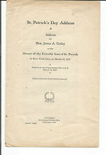 ST. PATRICK'S DAY DINNER ADDRESS BY HON. JAMES A. FARLEY 3/17/37 NEW YORK CITY