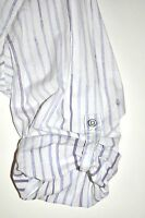 Guess Los Angeles Men's Striped Button Dress Shirt Long Sleeve Cuff Option Large