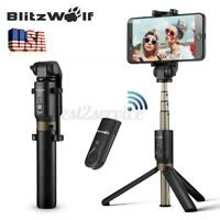 BW Selfie Stick Tripod Remote Shutter Extendable Monopod For iPhone11Pro Max US