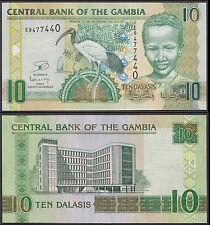 GAMBIA 10 DALASIS (P26) N. D. UNC