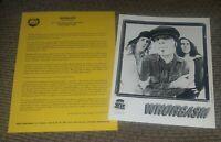 WHORGASM SMOTHERED - RADIO STATION Press Kit Promol w Photo 90's INDUSTRIAL BAND