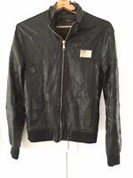 Dolce & Gabbana Itierre 90's Vintage Italian Leather Jacket Luxury High Upcycle