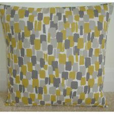 "18"" Cushion Cover Sundowner Saffron Mustard Yellow Ochre and Grey Retro Modern"