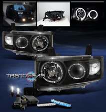 2003-2006 SCION XB HALO BLACK PROJECTOR HEAD LIGHT+BLUE DRL LED SIGNAL+6000K HID