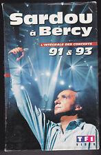 Michel Sardou at Bercy 2 x Video VHS Full Concerts 1991 & 1993