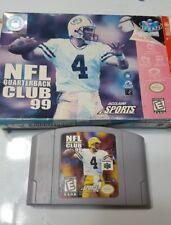 NFL Quarterback Club 99 (Nintendo 64, 1998) Box and game only