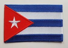 CUBA FLAG PATCH Embroidered Badge Iron or Sew on 6cm x 9cm Republic Cuban NEW