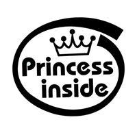Funny Car Bumper Window Decal Car Stickers Princess Inside Black Great #am8
