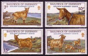 Guernsey 1980 MNH 4v no gum, Golden Goats, Domestic Animals