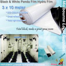 TOTAL BLOCK BLACK WHITE 3x10M HYDRO FILM HYDROPONICS GROW ROOM PANDA 220~250um