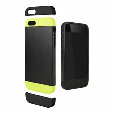 Cygnett Alternate iPhone 5 / 5S 2 Tone Black Lime Dockable Phone Cover Case