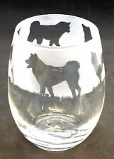 More details for akita frieze boxed 36cl crystal stemless wine / water glass