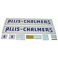 Decal Set Blue Long Fits Allis Chalmers Model B Tractor Free Shipping
