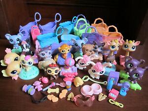 Littlest Pet Shop McDonalds Lot Figures, Carriers, Accessories ~ Giraffe, Dog ++