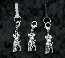 CUTE DEER ~ Clip On or Plug In Charm - Dust Cap for Mobiles, iPods, Bracelets