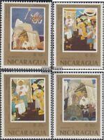 Nicaragua 2839-2842 (kompl.Ausg.) postfrisch 1987 Weihnachten: Gemälde von Saenz