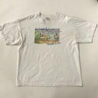 VTG 90s New Balance Chicago Marathon Art T-Shirt sz XL