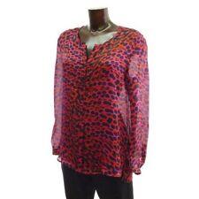 LUXUS ESCADA Couture ABEND Bluse blouse lEO pink rot 36/38 SEIDE Hochzeit flora