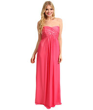 NWT WOMEN Laundry by Shelli Segal CrissCross  Pink Chiffon Gown Size 2 $345