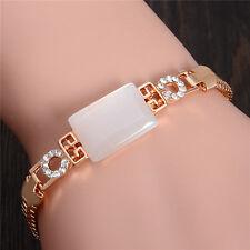 Shiny 18k Gold Plated opal Austrian crystal lady's bracelet