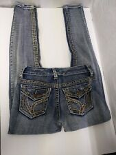 V8 Engine Womens Jeans Size 3 Embroidered Skinny Leg
