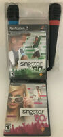 SingStar '90s Bundle (Sony PlayStation 2 +singstar 80's new-sealed ps2