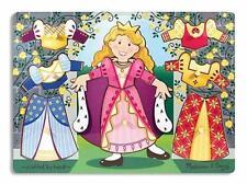 Melissa & Doug Princess Dress-Up Mix n Match Peg Puzzle New
