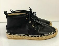 Club Monaco Women's Black Leather Ankle Tie Up Chukka Boots SZ 36.5/6.5 NWOB