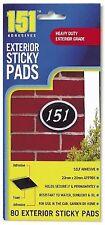 80 almohadillas adhesivas pegajoso exterior resistente de doble cara
