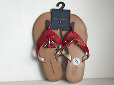 NEW! AUTHENTIC TOMMY HILFIGER SONNIE SCARLET RED SANDALS SLIPPERS 6 36 SALE