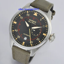 47mm Parnis Man Automatic Watch Seagull Power Reserve Vintage Retro Wristwatches