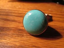 Ippolita designer ring sterling silver blue turquoise round large size 7 new