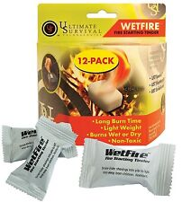 Wetfire Fire-Starter Tinder Cube 12-PACK -  UST Non-Toxic Flame Tinder Cubes