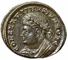 "Constantine II Caesar ""PROVIDENTIAE CAESS Campgate"" Trier 326 AD RIC 505 EF"