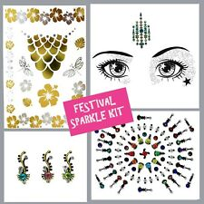 FESTIVAL Job lot- BINDI- Stick On FACE GEM-Temporary TATTOO-GLITTER BODY JEWEL3