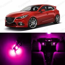 10 x Ultra Pink LED Interior Light Package For Mazda 3 Mazdaspeed 3 2004 - 2009