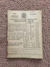1912 National Health Insurance Book